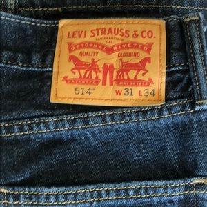 Like new Levi 514 jeans- size 31/34